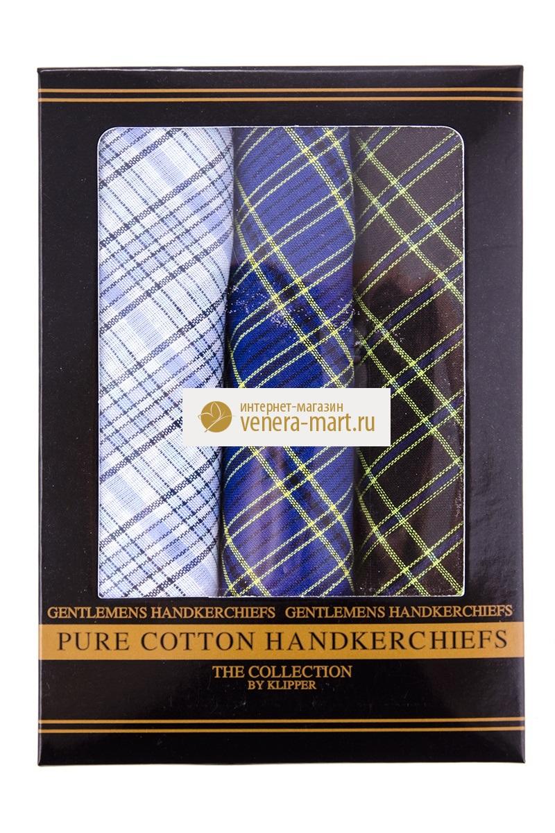 Подарочный набор мужских носовых платков Сэр в упаковке, 3 шт.Подарки к 23 февраля<br><br><br>Размер: 40х40 см