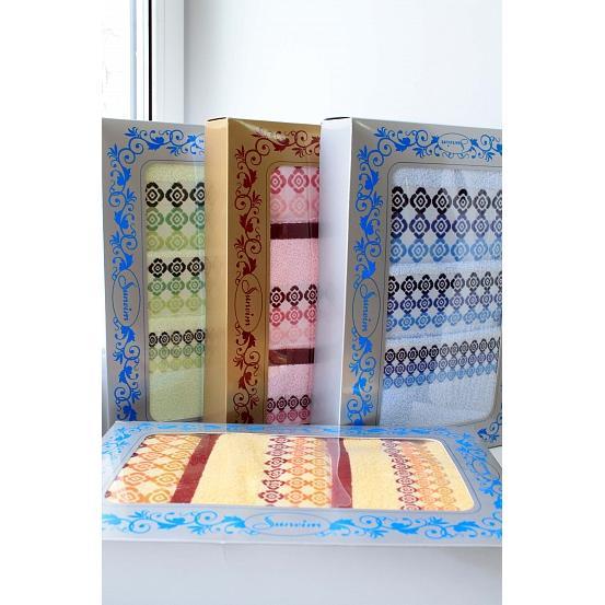 Подарочный набор из полотенец Камушки (3 шт.)Подарки к 23 февраля<br><br><br>Размер: Розовый