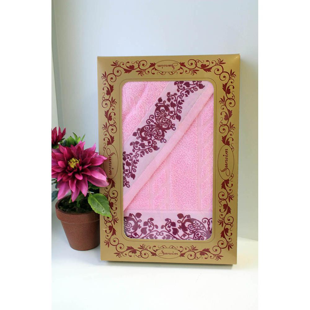 Подарочный набор из полотенец Лоза (2 шт.)Подарки к 14 февраля<br><br><br>Размер: Розовый