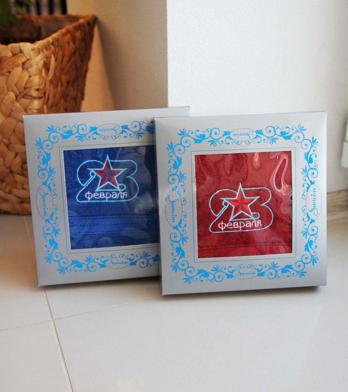Подарочный набор из 1 полотенца 23 февраляПодарки к 23 февраля<br><br><br>Размер: Синий