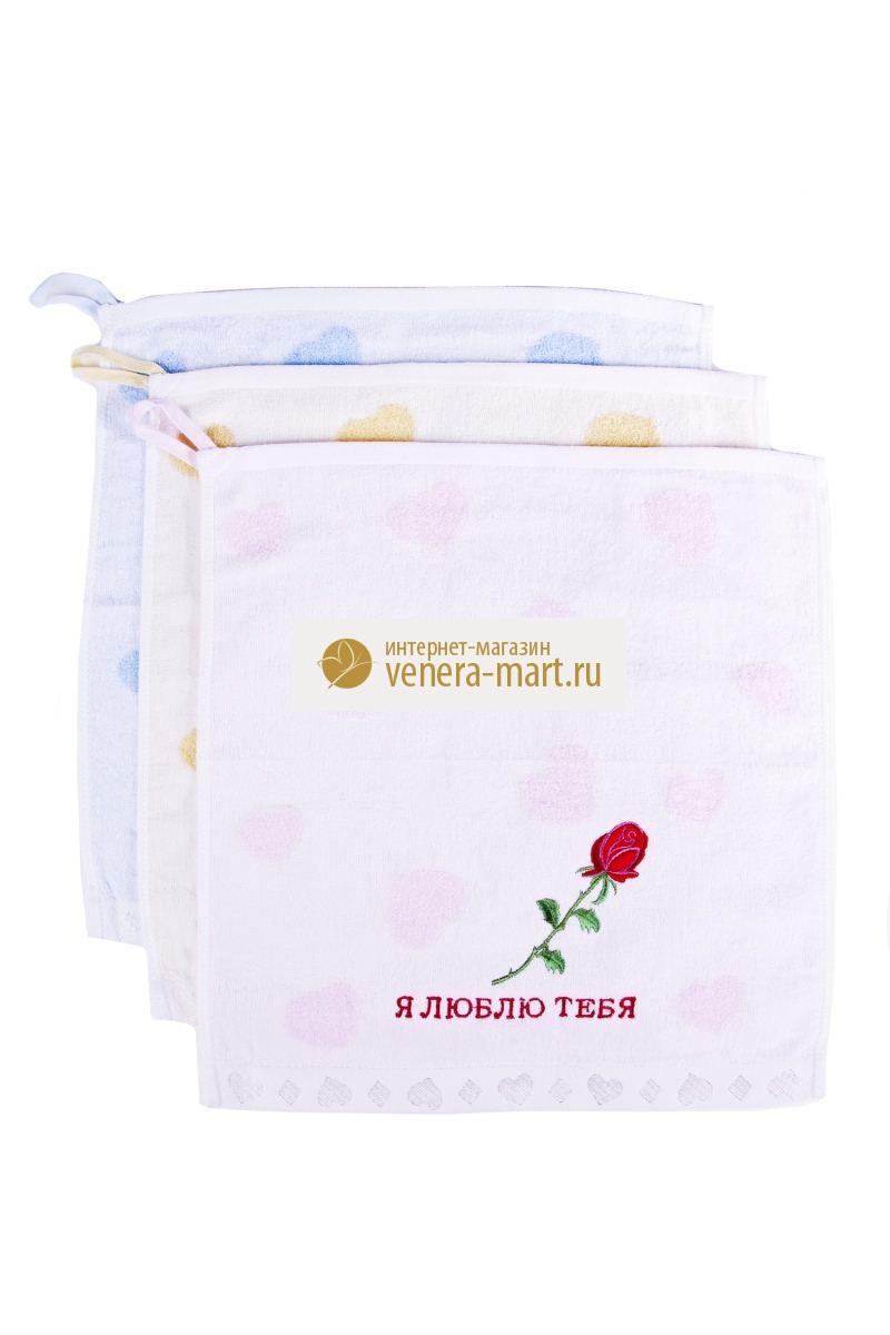 Полотенце махровое кухонное Люблю  в упаковке, 6 шт.Подарки на День рождения<br><br><br>Размер: 35х35 см