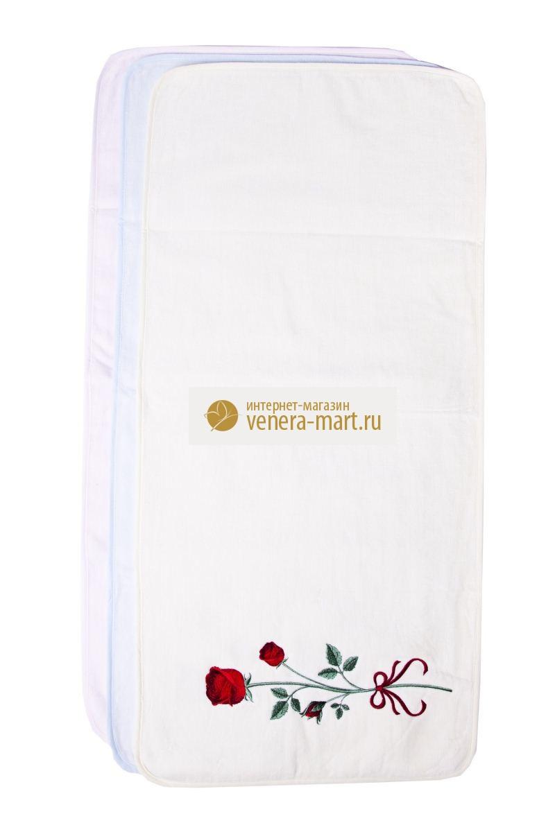 Полотенце махровое кухонное РозаПодарки на День рождения<br><br><br>Размер: 35х75 см