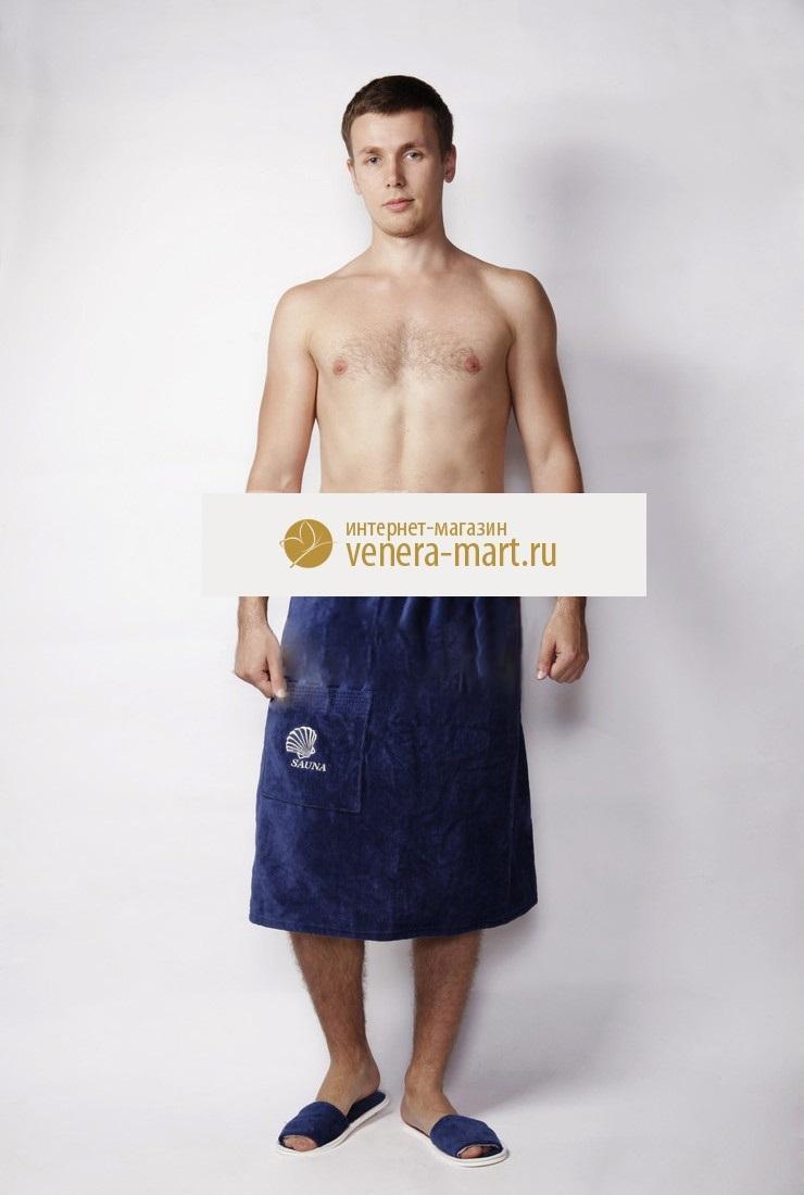 Полотенце-накидка мужская Sauna на пуговицеДля бани и сауны<br><br><br>Размер: 42-52