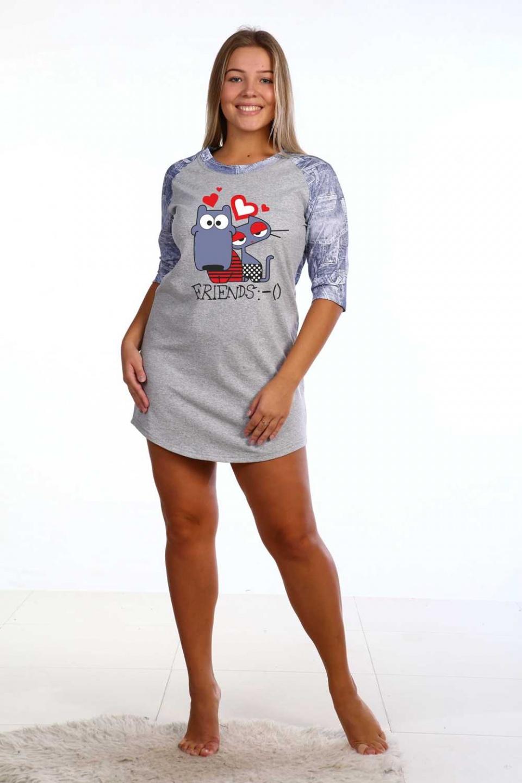 Сорочка женская Пикачу для сна<br><br>Размер: 44