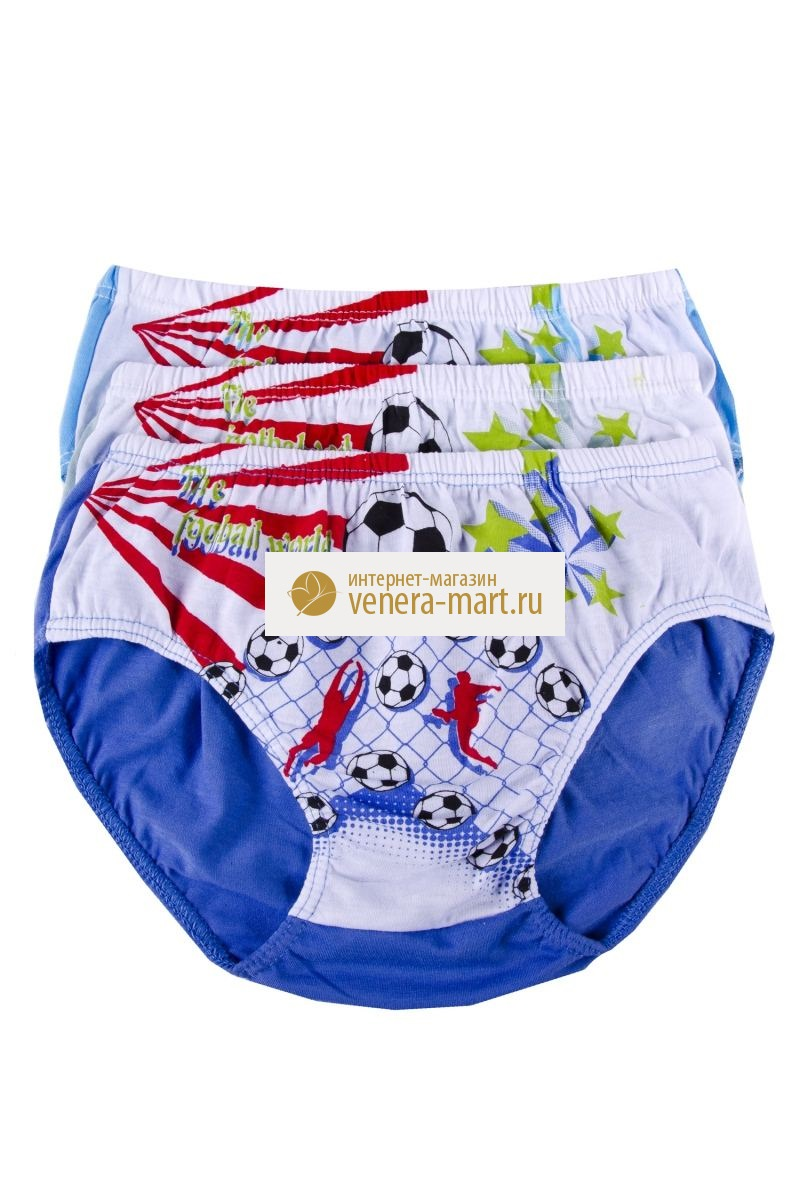 Трусы подростковые для мальчика Футбол в упаковке, 10 шт.Нижнее белье<br><br><br>Размер: 3XL (12-14 лет)