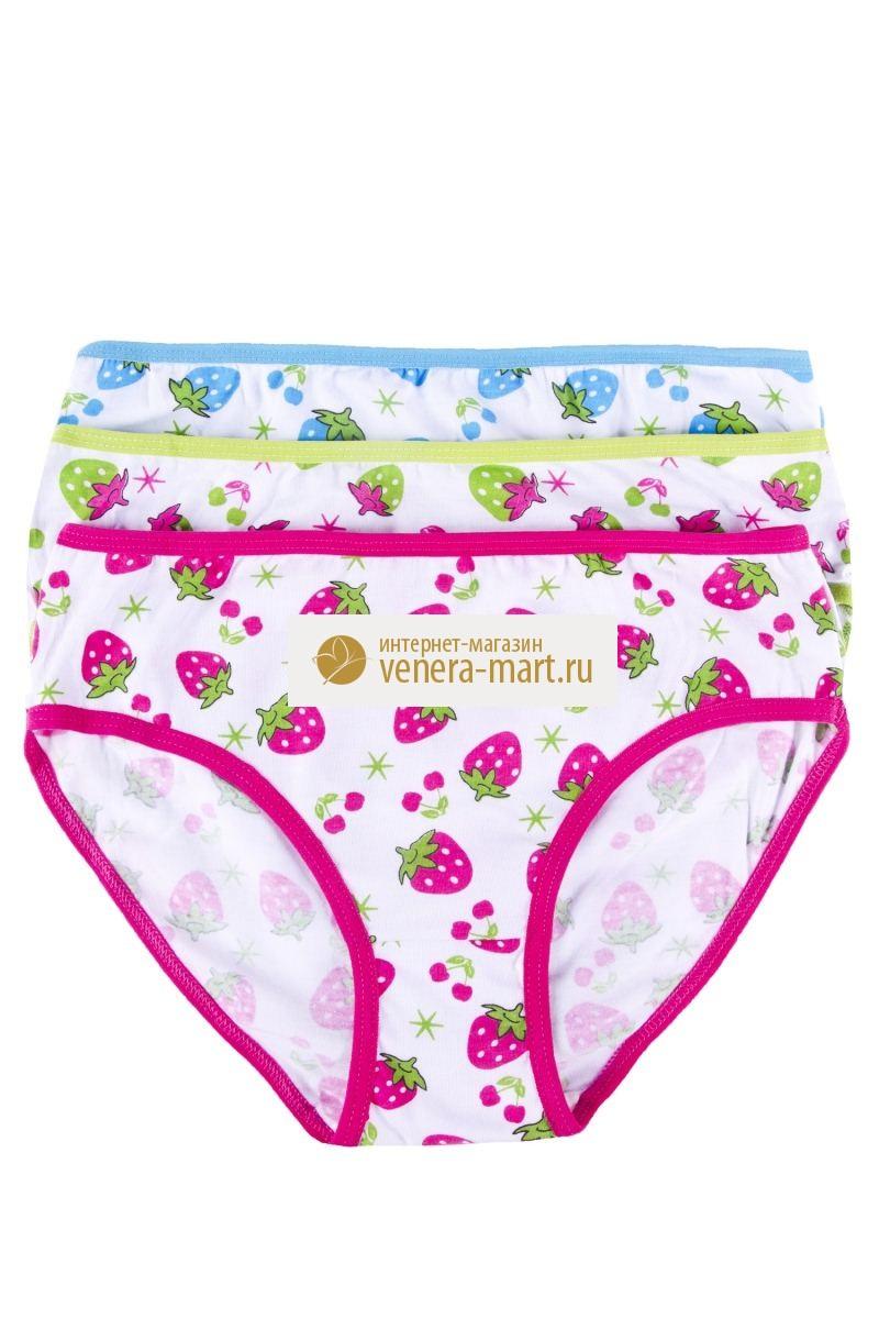 Трусы подростковые для девочки Клубничка в упаковке, 10 шт.Нижнее белье<br><br><br>Размер: XL (8-10 лет)