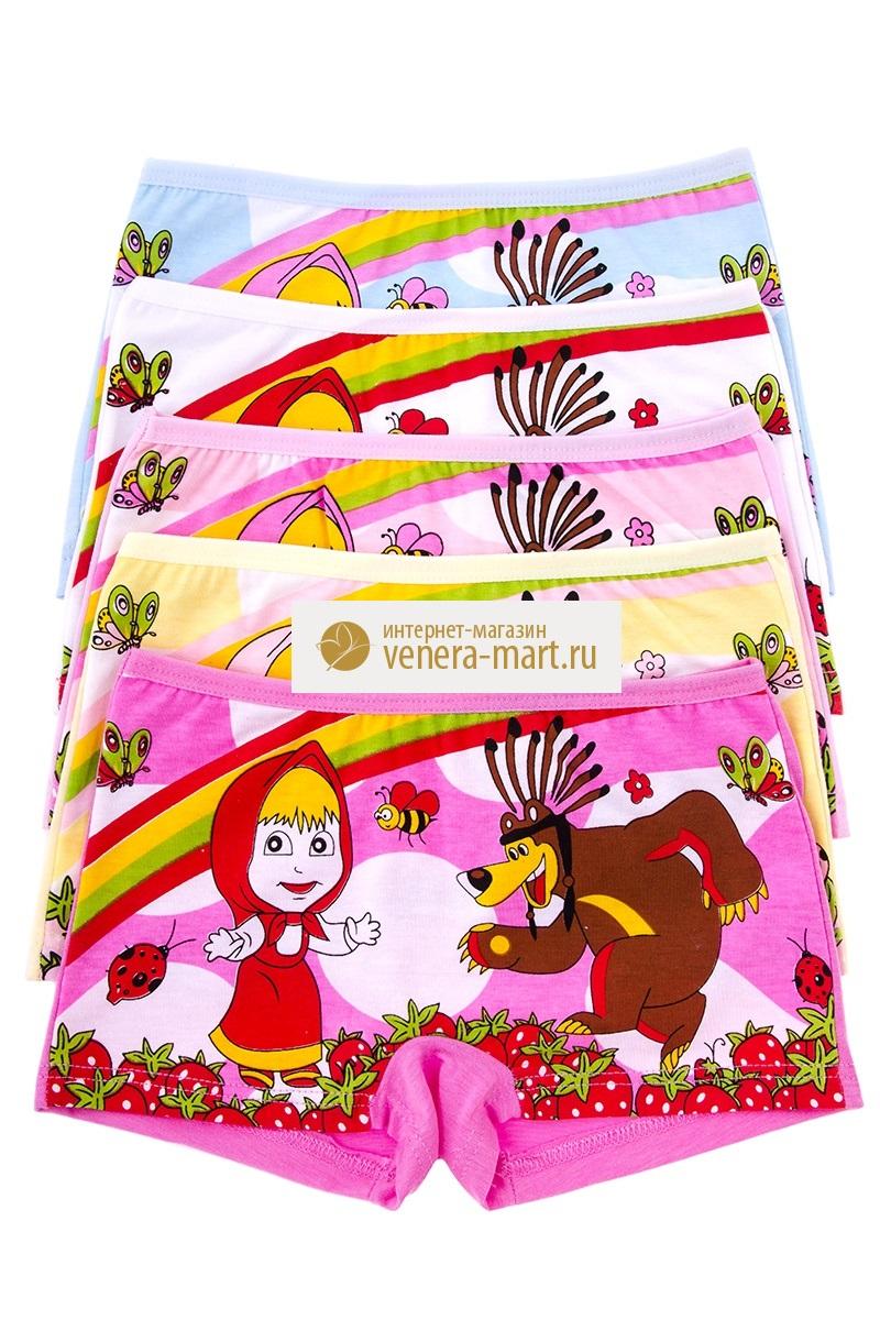 Трусы детские для девочки Маша и медведь в упаковке, 10 шт.Нижнее белье<br><br><br>Размер: S (1-3 года)