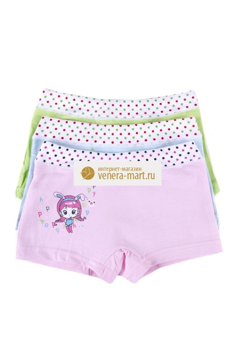 Трусы детские для девочки Милашка в упаковке, 10 шт.Нижнее белье<br><br><br>Размер: XL (8-10 лет)