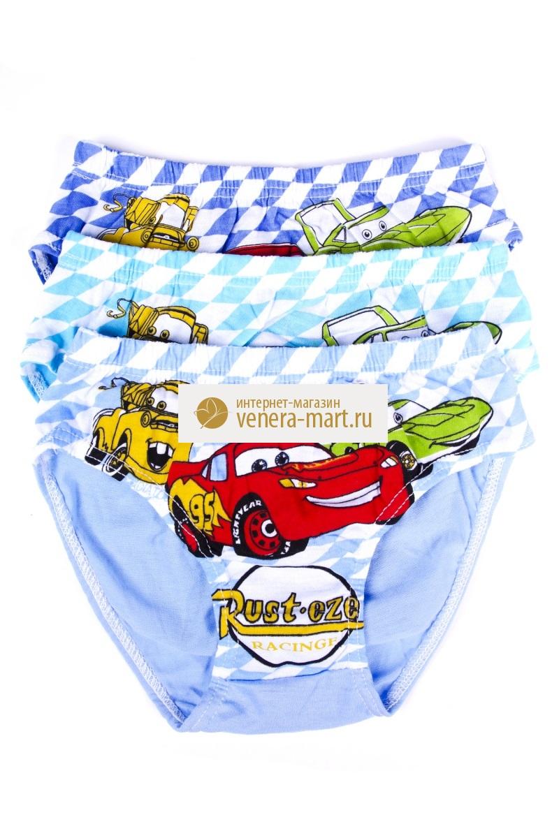 Трусы детские для мальчика Тачки в упаковке, 10 шт.Нижнее белье<br><br><br>Размер: L (5-7 лет)