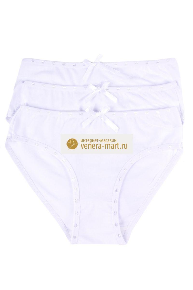 Трусы подростковые для девочек White в упаковке, 10 шт.Нижнее белье<br><br><br>Размер: 3XL (12-14 лет)