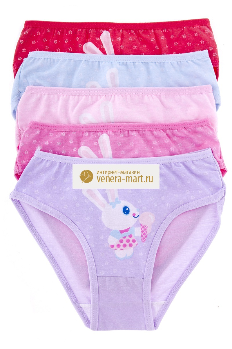 Трусы детские для девочки Заюшка в упаковке, 10 шт.Нижнее белье<br><br><br>Размер: L (5-7 лет)