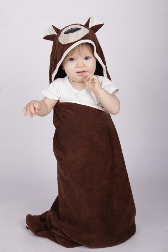 Уголок-полотенце детский ЗвериДетские полотенца<br><br><br>Размер: Коричневый