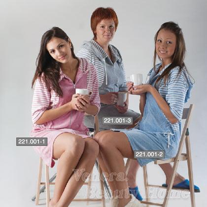 Платье-халат ПолоскаКоллекция ОСЕНЬ-ЗИМА<br><br><br>Размер: Серый