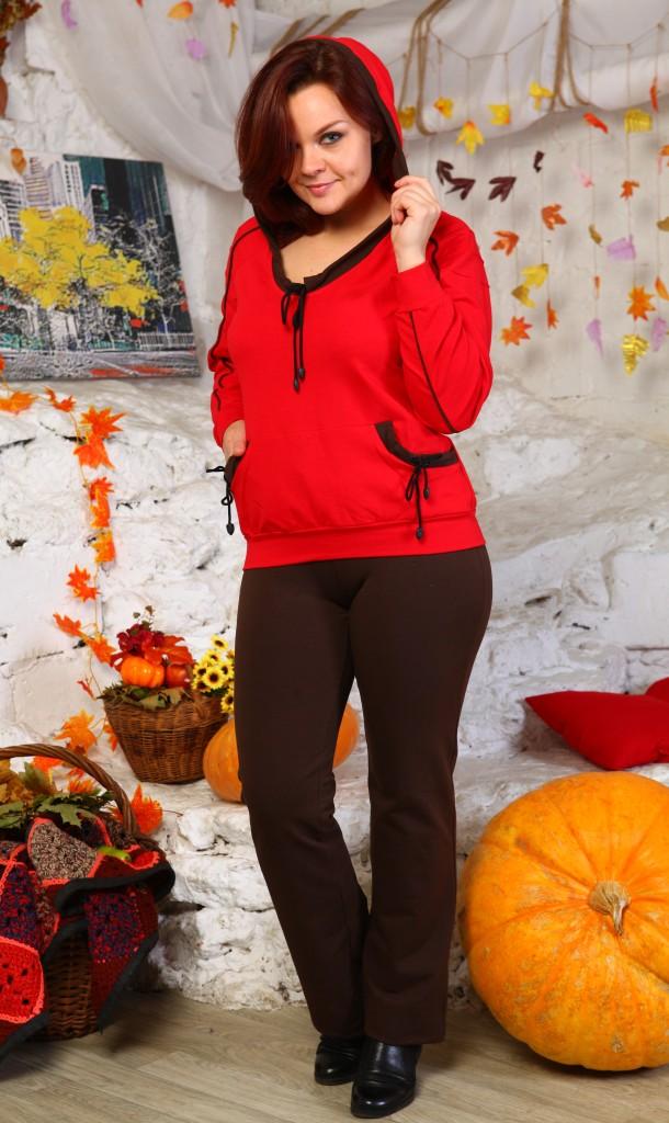 Костюм женский Свобода объемная толстовка и брюки свободного покрояКостюмы<br><br><br>Размер: 56