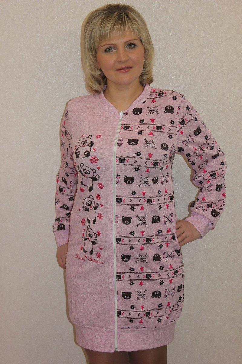 Халат женский Хенни на молнииДомашняя одежда<br><br><br>Размер: 50