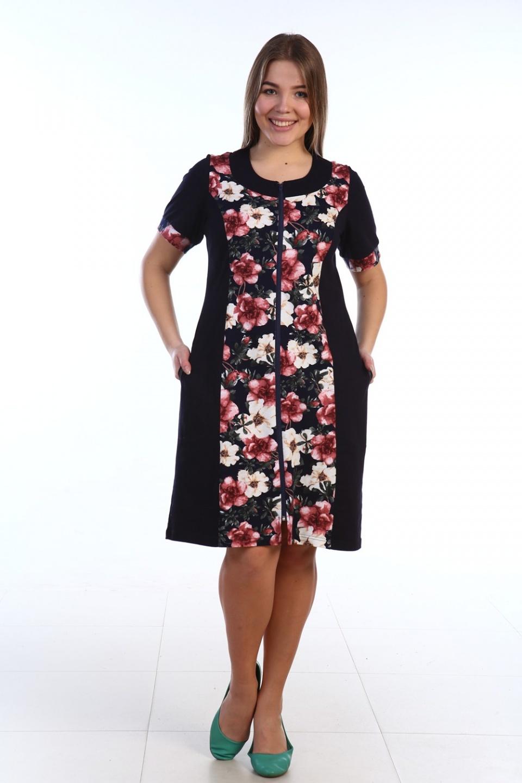 Халат женский Марыся на молнииДомашняя одежда<br><br><br>Размер: 60