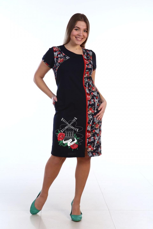 Халат женский Мулен Руж на молнииДомашняя одежда<br><br><br>Размер: 44