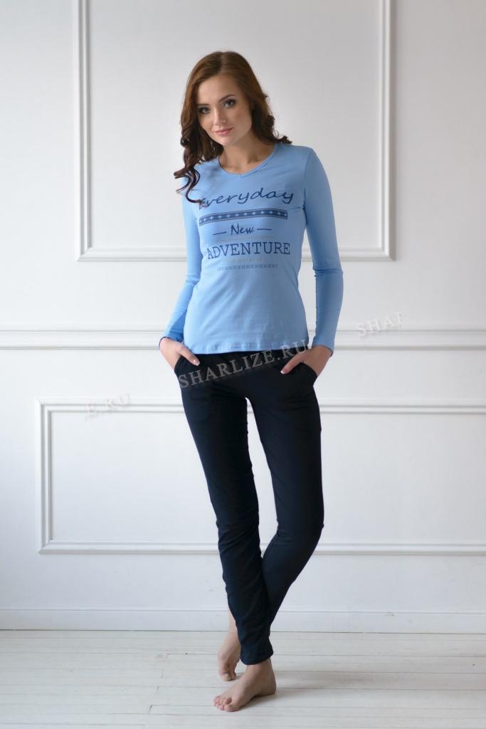 Комплект женский New Adventure блуза + брюкиДомашняя одежда<br><br><br>Размер: 46