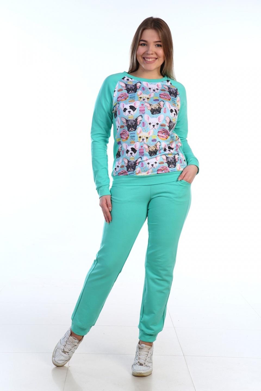 Костюм женский Карель футболка и брюкиДомашняя одежда<br><br><br>Размер: 46