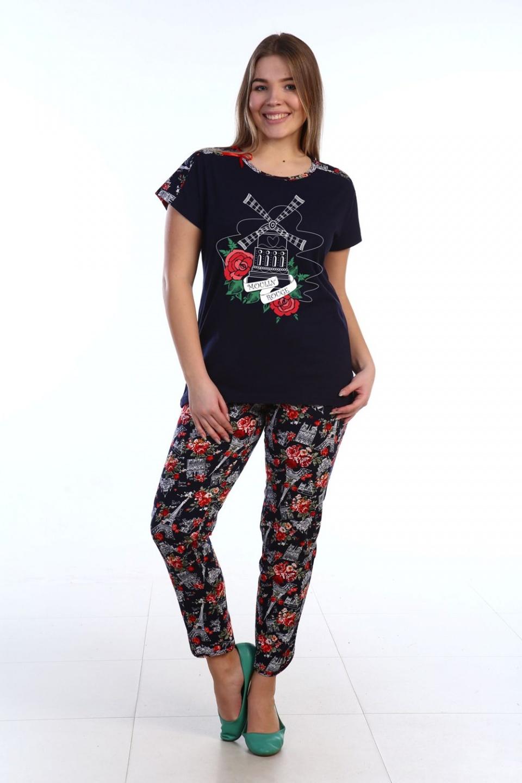 Костюм женский Мулен Руж футболка и брюкиКостюмы<br><br><br>Размер: 54