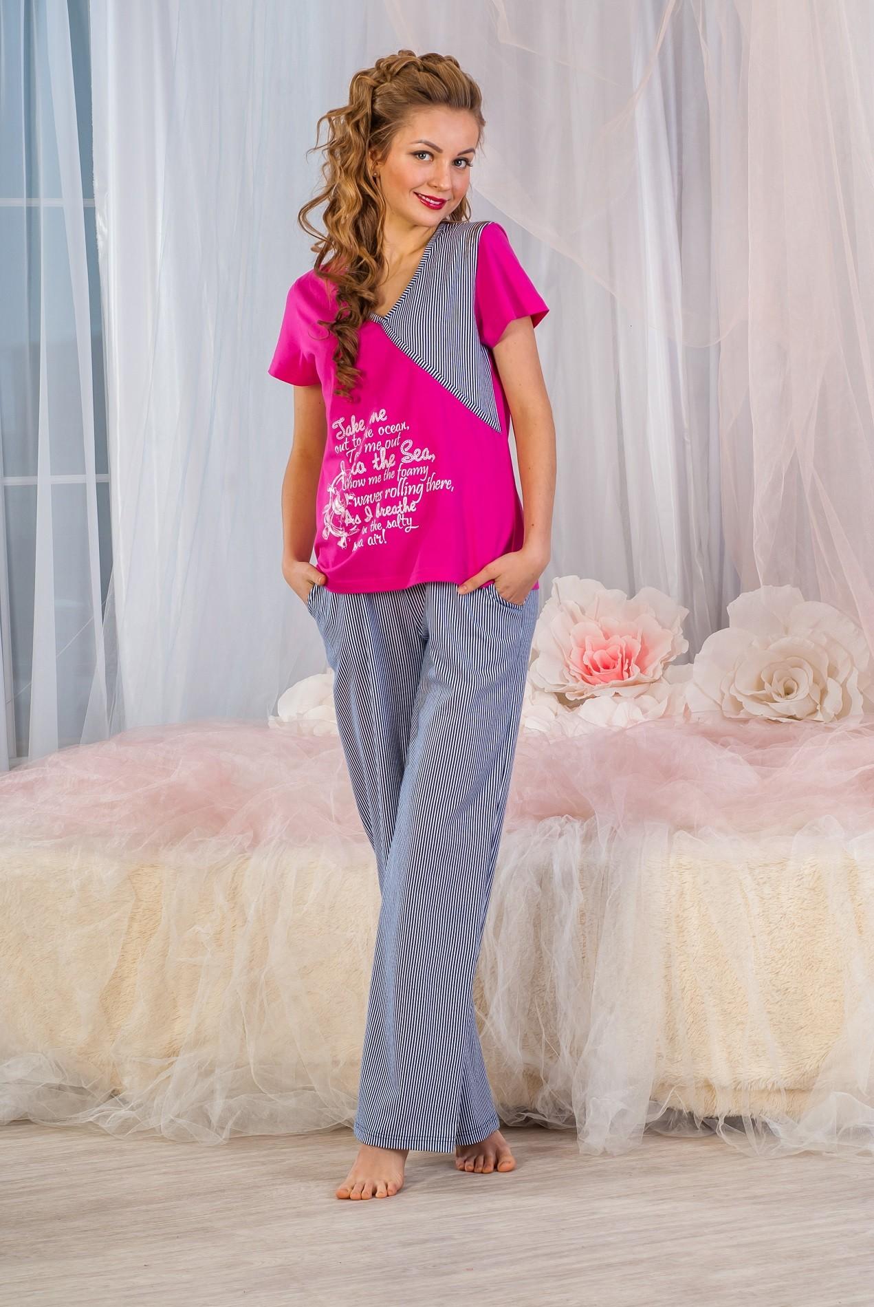 Костюм женский Шторм футболка и брюкиКостюмы<br><br><br>Размер: 52
