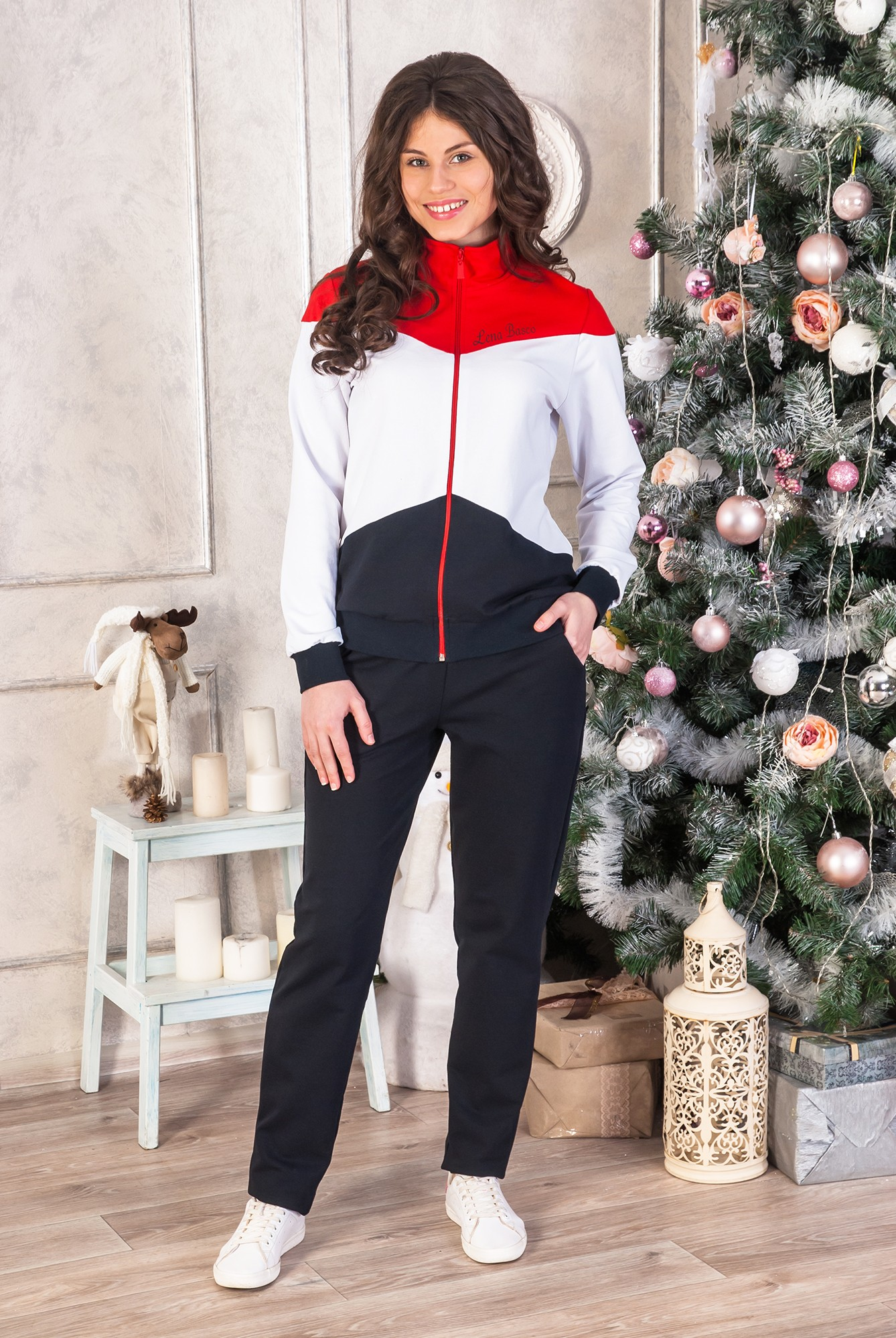 Костюм женский Спорт герл куртка и брюкиСпортивные костюмы<br><br><br>Размер: 58