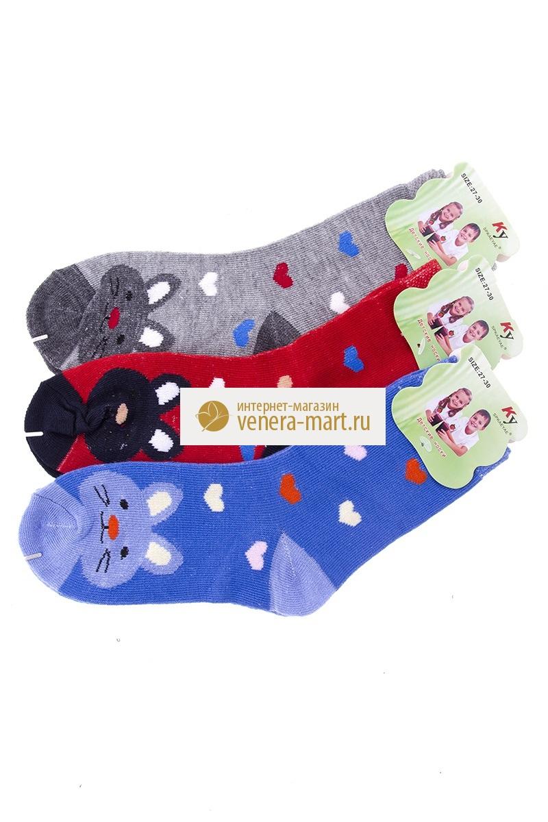 Носки детские КУ-зайчики в упаковке, 4 парыНоски, гольфы<br><br><br>Размер: 24-26