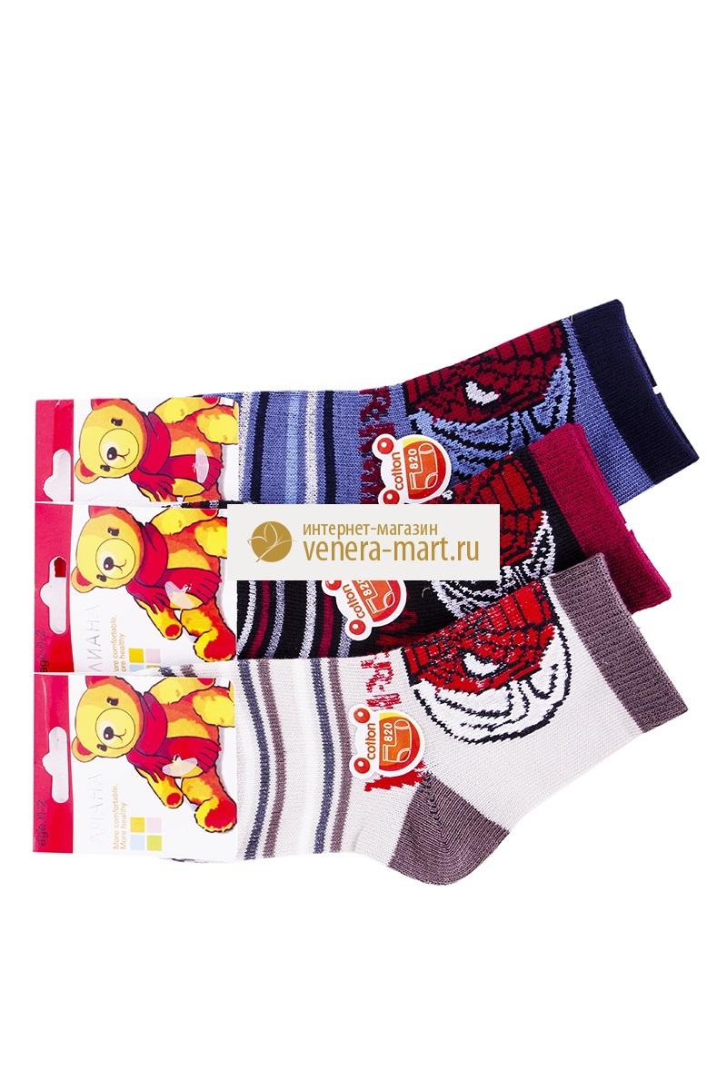 Носки детские для мальчика Лиана в упаковке, 4 парыНоски, гольфы<br><br><br>Размер: M (3-5 лет)