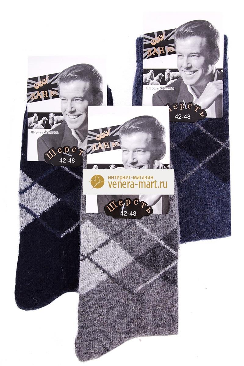 Носки мужские Ланю с рисунком в упаковке, 12 парНоски<br><br><br>Размер: 42-48 (универсальный)