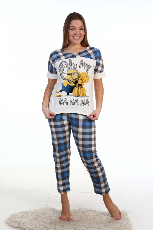 Пижама женская Banana футболка и брюкиДомашняя одежда<br><br><br>Размер: 44