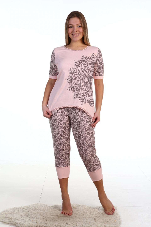Пижама женская Марокко футболка и бриджиДомашняя одежда<br><br><br>Размер: 48