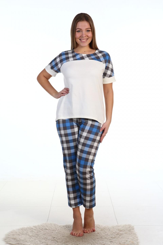 Пижама женская Варенька футболка и брюкиДомашняя одежда<br><br><br>Размер: 52