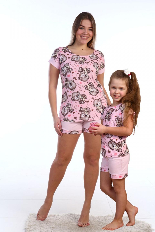 Пижама женская Мишки футболка и шортыДомашняя одежда<br><br><br>Размер: 52