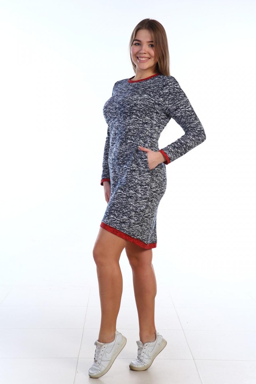 Платье женское Березка с длинным рукавомПлатья и сарафаны<br><br><br>Размер: 44