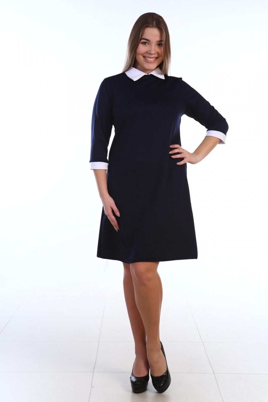 Платье женское Линда с отложным воротникомПлатья и сарафаны<br><br><br>Размер: 52