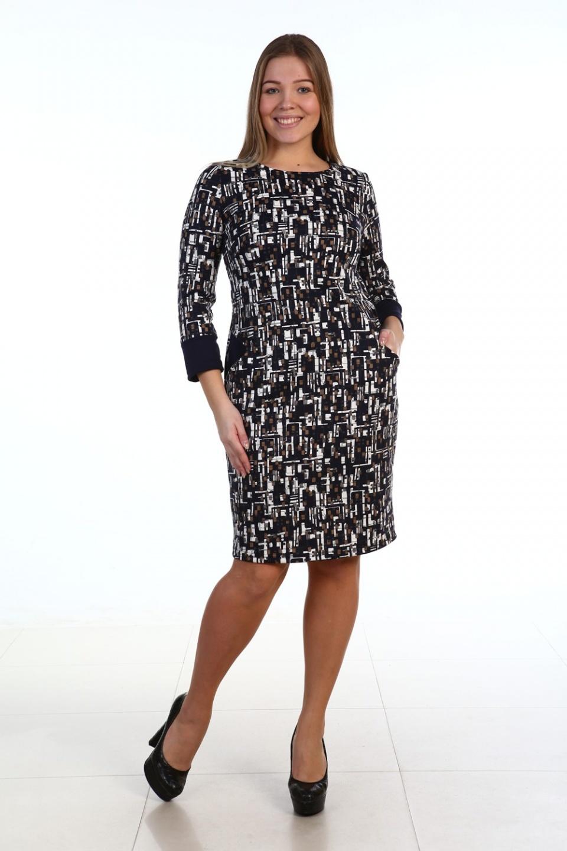 Платье женское Мнемоник с длинным рукавомПлатья и сарафаны<br><br><br>Размер: 48