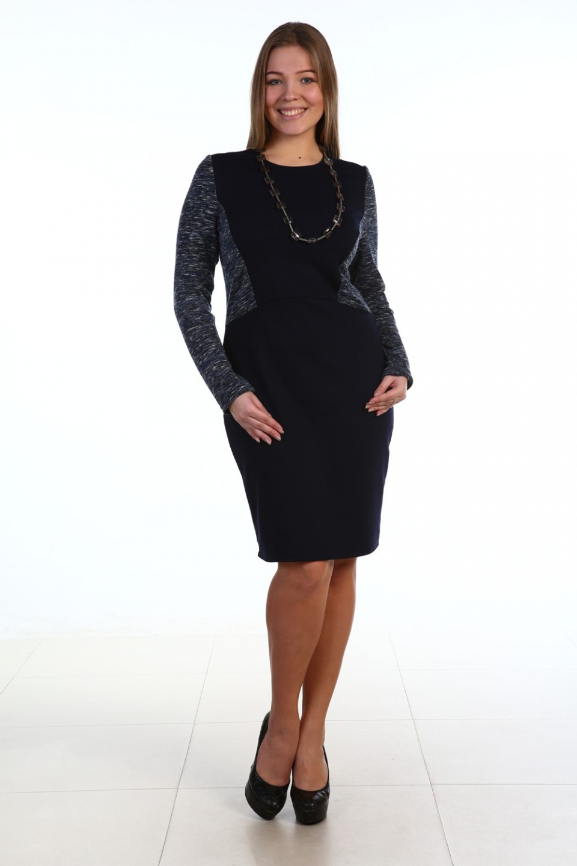 Платье женское Рита с длинным рукавомПлатья и сарафаны<br><br><br>Размер: 52