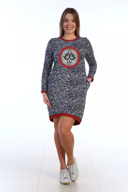 Платье женское Сандра с круглым вырезомПлатья и сарафаны<br><br><br>Размер: 52