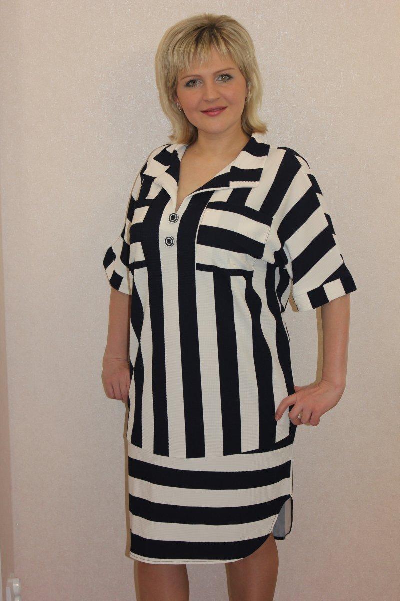 Платье женское Марета с отложным воротникомПлатья и сарафаны<br><br><br>Размер: 50