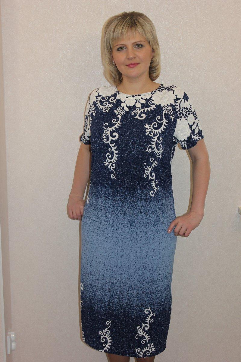 Платье женское Рамира с коротким рукавомПлатья и сарафаны<br><br><br>Размер: 58
