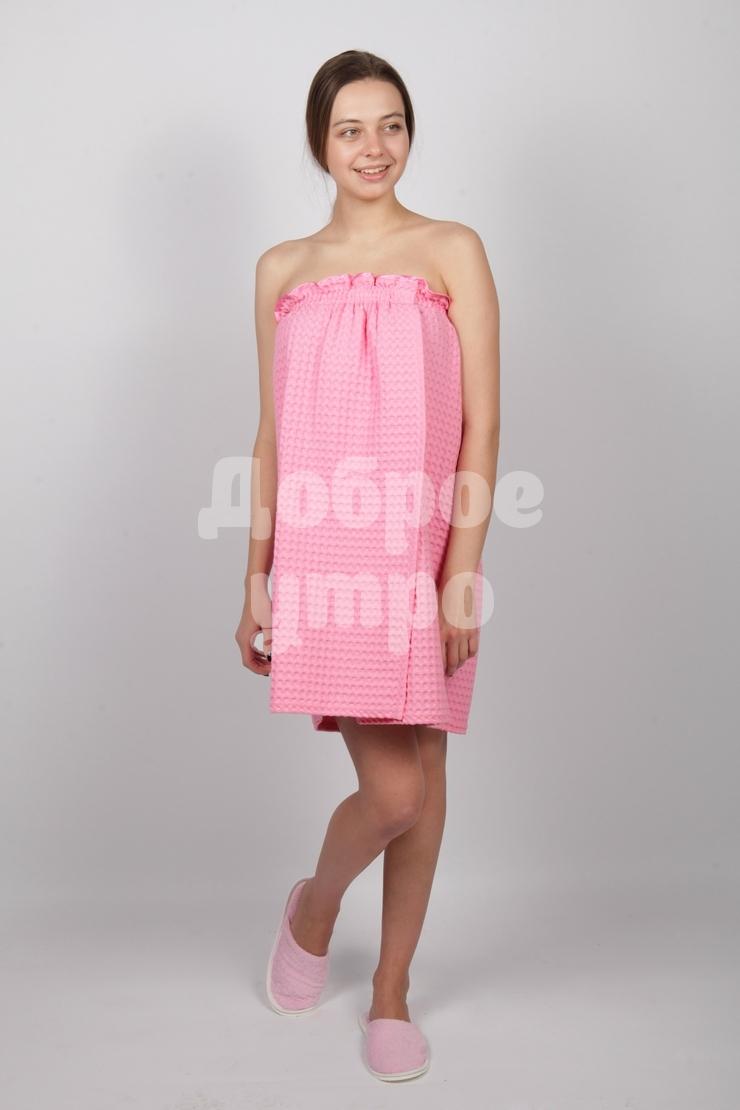 Полотенце-накидка вафельная женская АнжеликаПодарки на День рождения<br><br><br>Размер: Персиковый