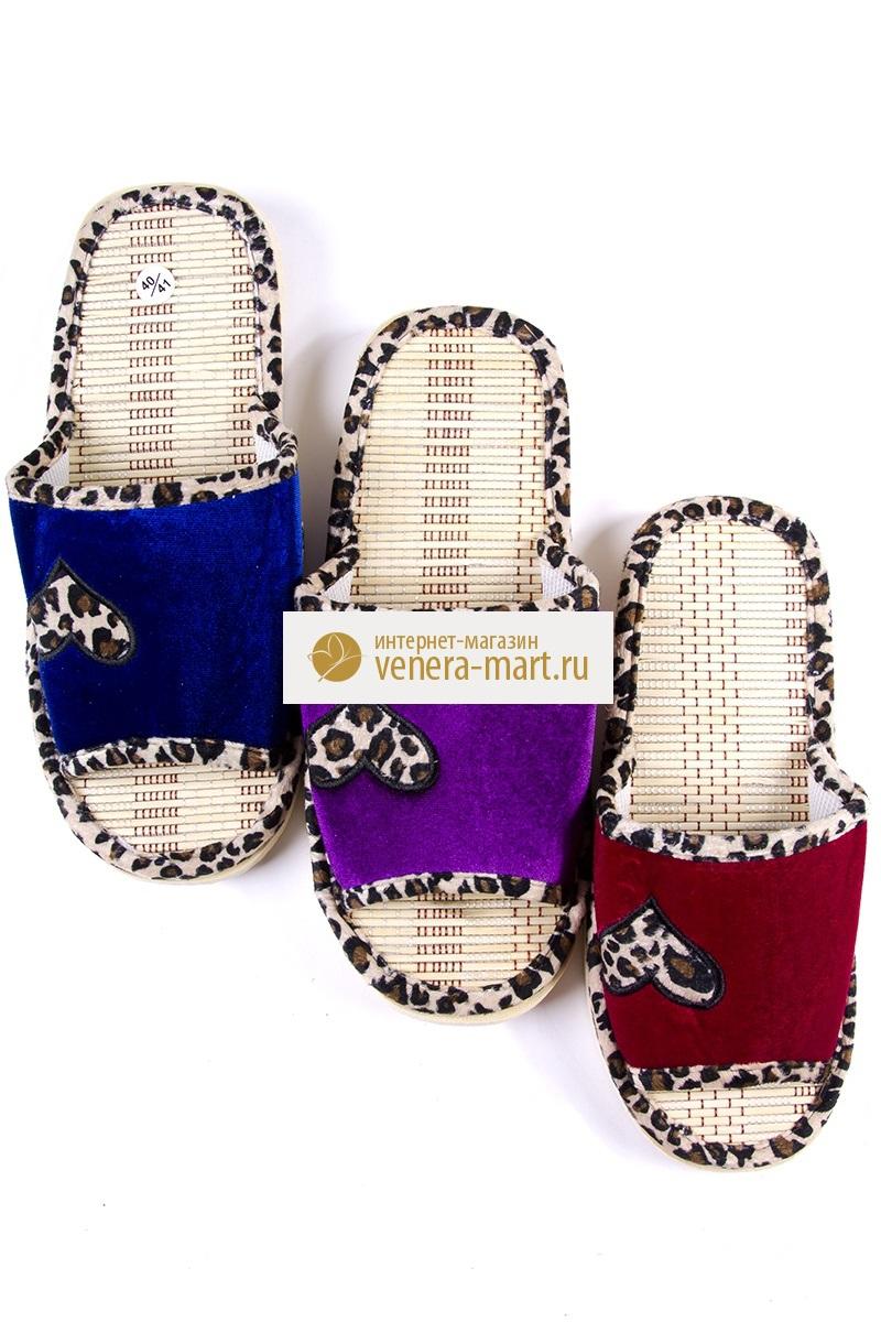 Тапки женские Экстра с открытым мыскомПодарки на День рождения<br><br><br>Размер: Фиолетовый