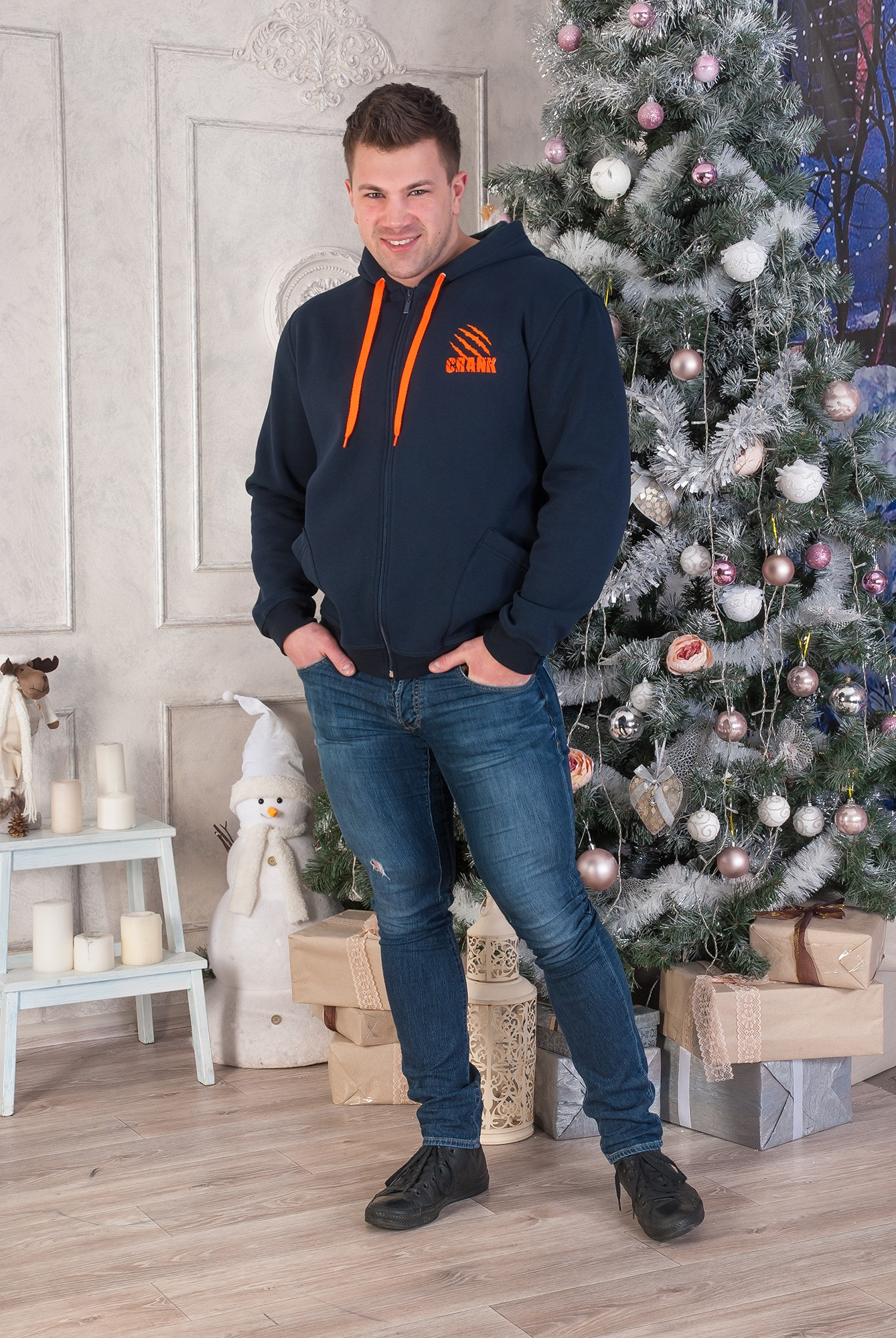 Толстовка мужская CRANK с капюшономДжемперы, свитеры, толстовки<br><br><br>Размер: 58