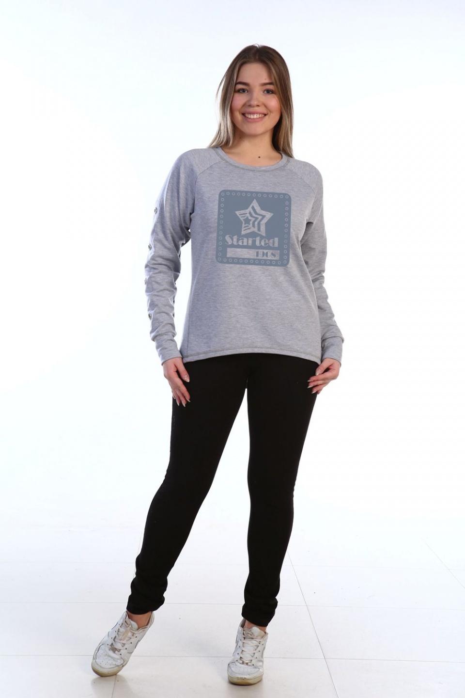 Толстовка женская Started с круглым вырезомКофты, свитера, толстовки<br><br><br>Размер: 46