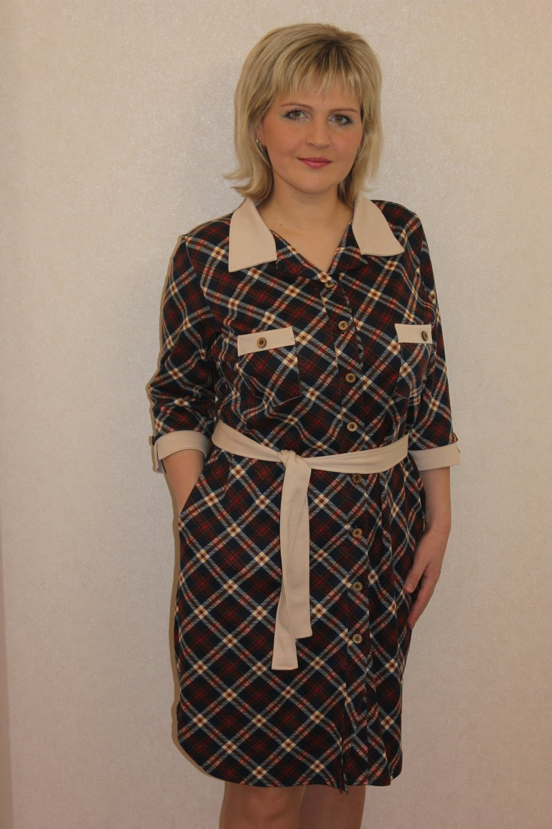Туника женская Агне на пуговицахТуники, рубашки и блузы<br><br><br>Размер: 52
