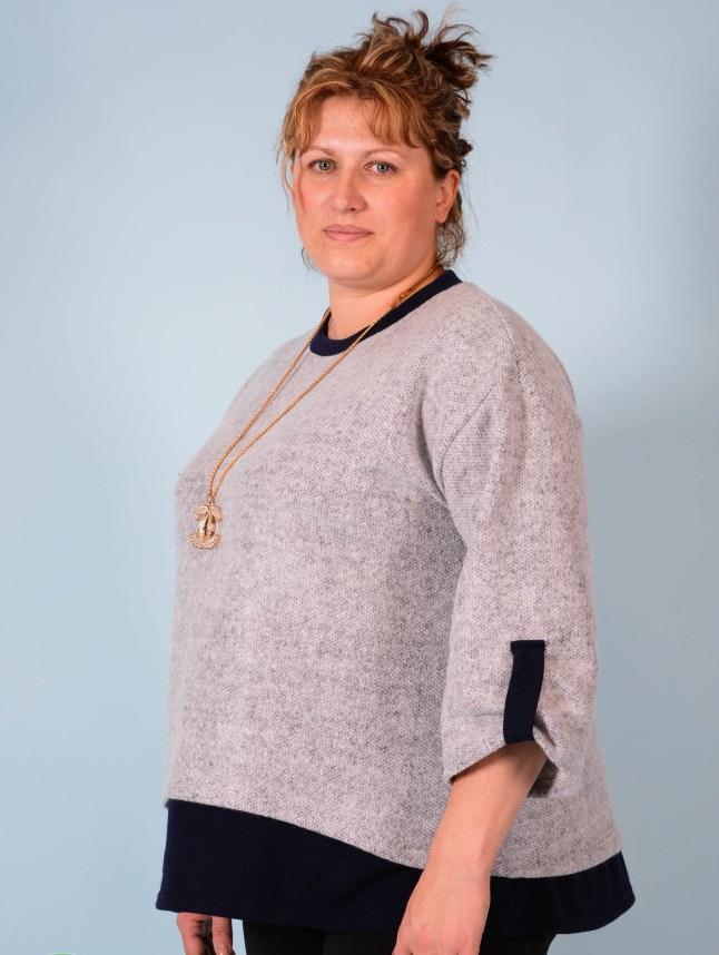 Туника женская Амина с рукавом 3/4Туники, рубашки и блузы<br><br><br>Размер: 50