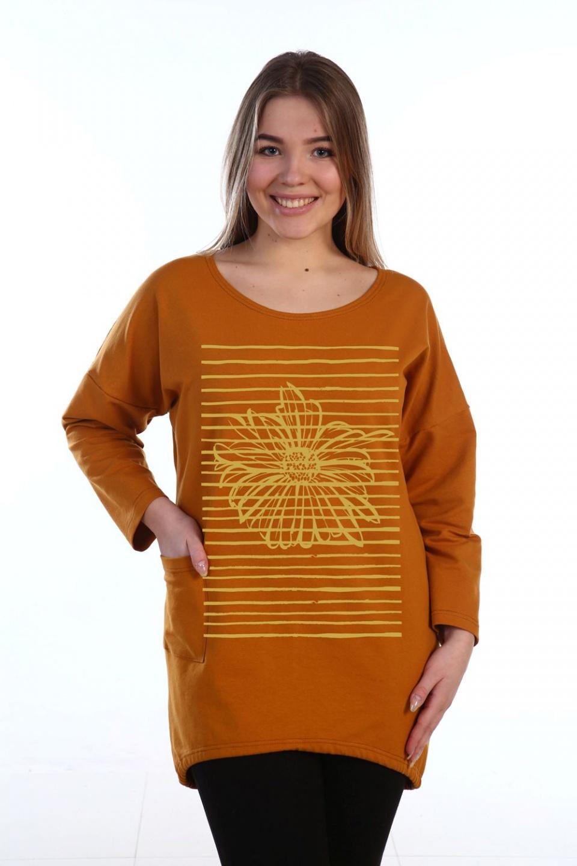 Туника женская Астра с длинным рукавомТуники, рубашки и блузы<br><br><br>Размер: 64