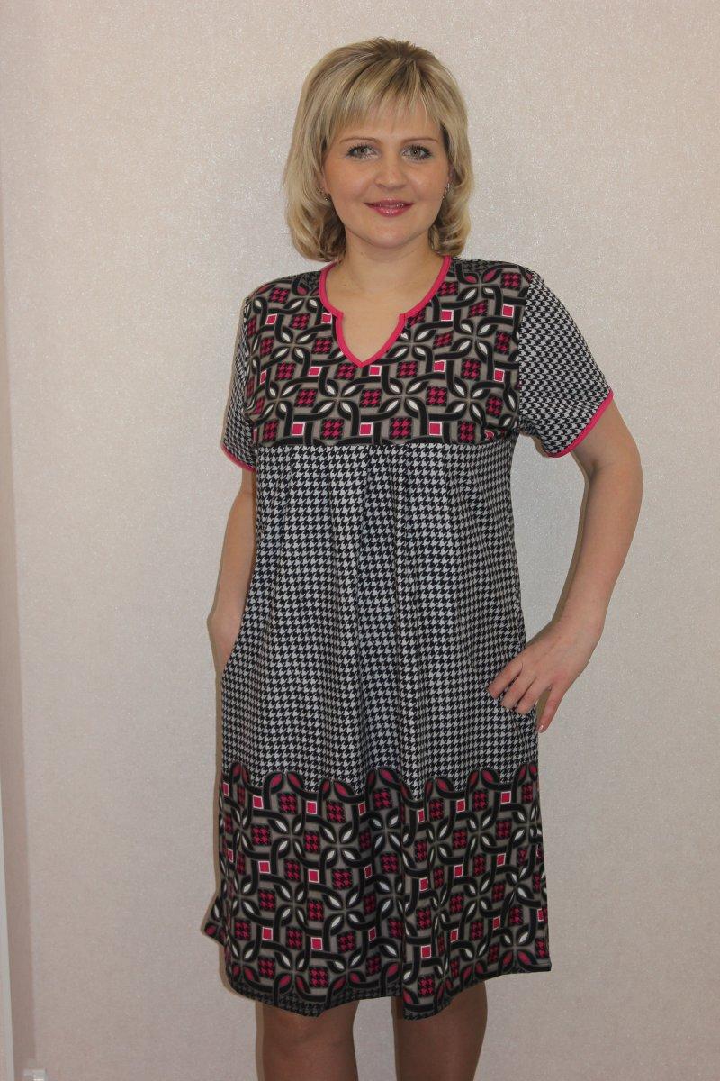 Туника женская Эльвира с коротким рукавомТуники, рубашки и блузы<br><br><br>Размер: 60