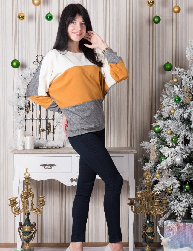 Туника женская Киоко с длинным рукавомПодарки на День рождения<br><br><br>Размер: 52