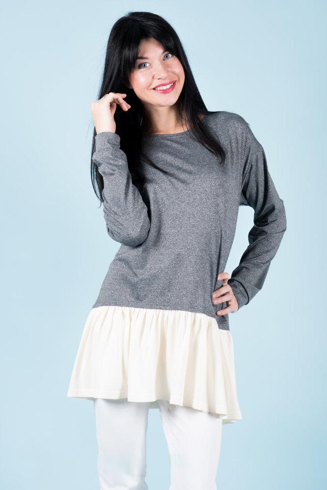 Туника женская Кёко с расклешённым подоломТуники, рубашки и блузы<br><br><br>Размер: 48
